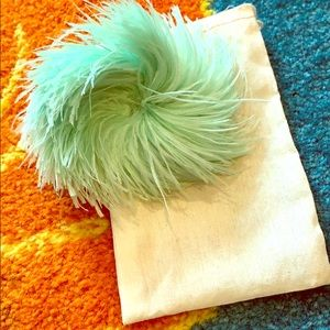 Feather hair clip or brooch